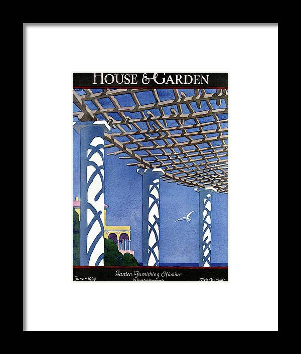 House And Garden Framed Print featuring the photograph House And Garden Garden Furnishing Number Cover by Andre E. Marty