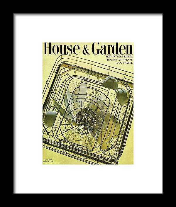 House And Garden Framed Print featuring the photograph House And Garden Servant Less Living Houses Cover by Herbert Matter