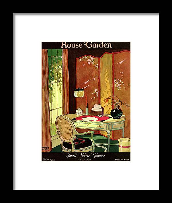 House And Garden Framed Print featuring the photograph House And Garden Small House Number by Clayton Knight