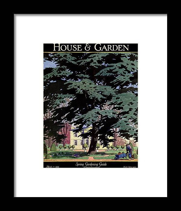 House And Garden Framed Print featuring the photograph House And Garden Spring Gardening Guide Cover by Pierre Brissaud
