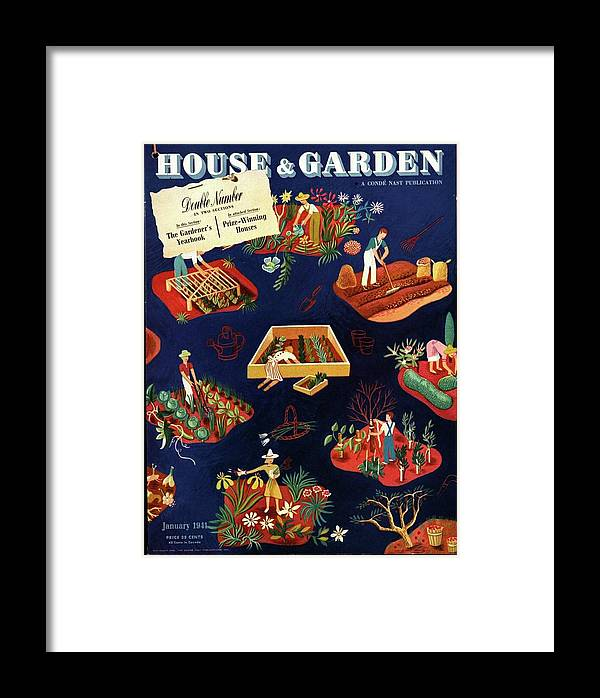 House And Garden Framed Print featuring the photograph House And Garden The Gardener's Yearbook Cover by Ilonka Karasz