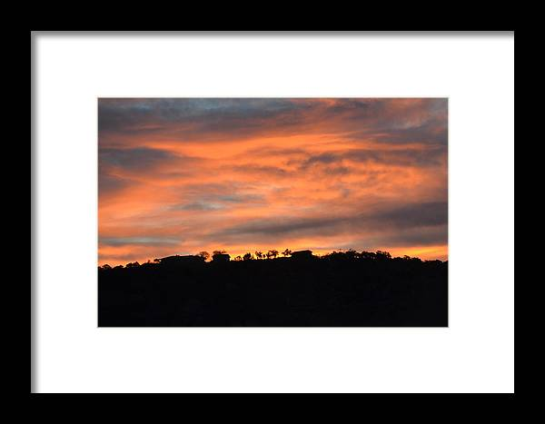 Sunrise Framed Print featuring the photograph House In The Sunrise by Dorothea Hanson