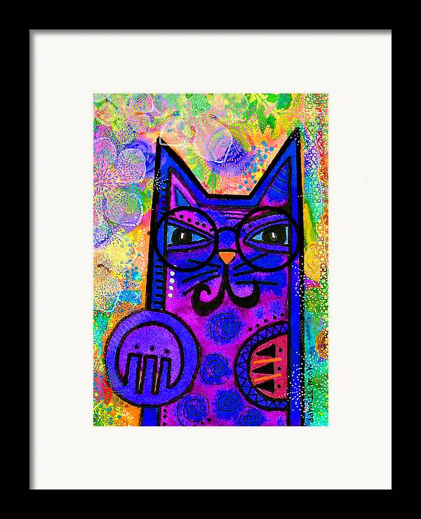 Moon Stumpp Framed Print featuring the painting House Of Cats Series - Paws by Moon Stumpp