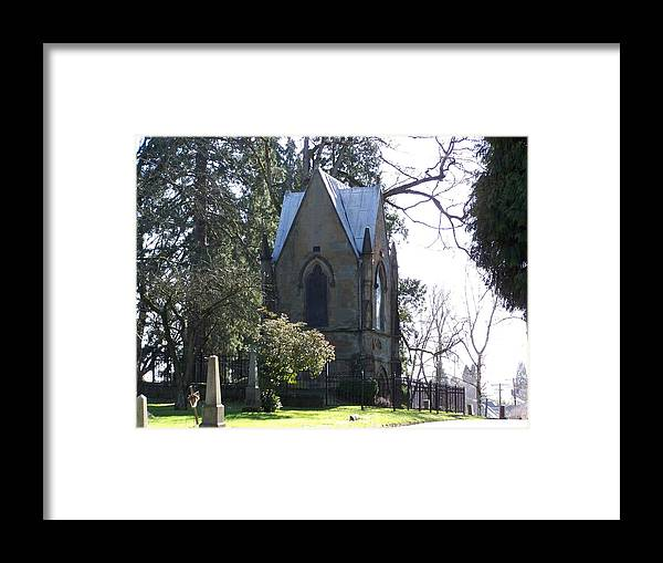 Cemetery Framed Print featuring the photograph House Of Corpses 2 by Heather L Wright