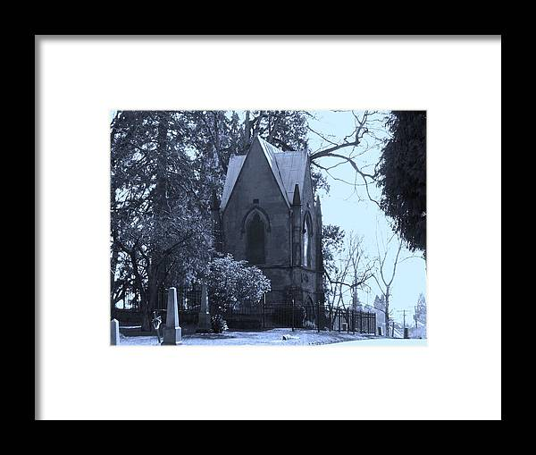 Cemetery Framed Print featuring the photograph House Of Corpses by Heather L Wright