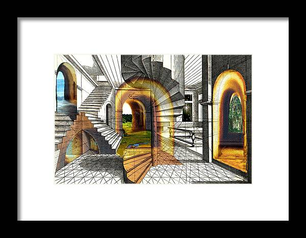 House Framed Print featuring the digital art House Of Dreams by Lisa Yount