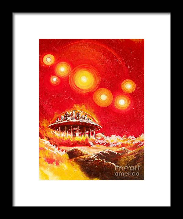 House Framed Print featuring the painting House of the Rising Suns by Murphy Elliott