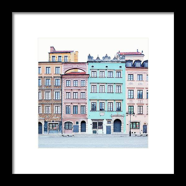 Apartment Framed Print featuring the photograph Houses On Old Town Market Place by Jorg Greuel