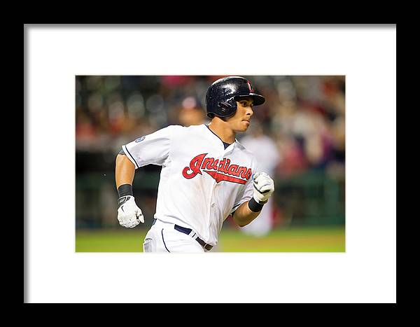 People Framed Print featuring the photograph Houston Astros V Cleveland Indians by Jason Miller