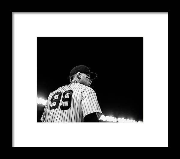 People Framed Print featuring the photograph Houston Astros v New York Yankees by Rob Tringali/Sportschrome