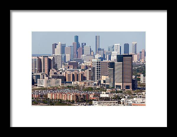 Houston Framed Print featuring the photograph Houston Texas by Bill Cobb
