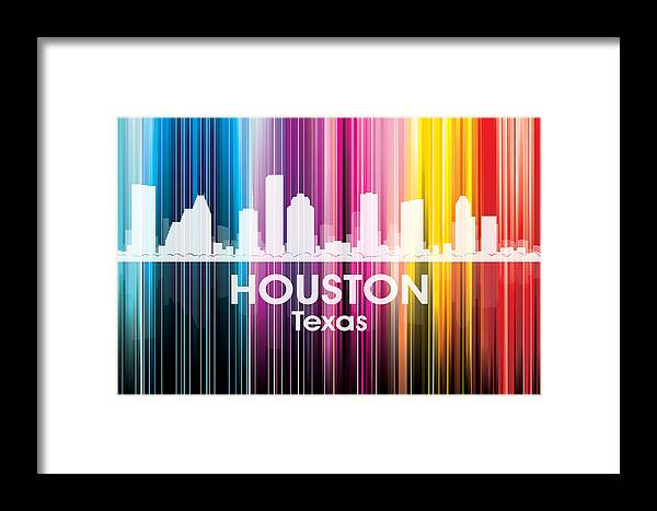 Houston Framed Print featuring the mixed media Houston Tx 2 by Angelina Vick