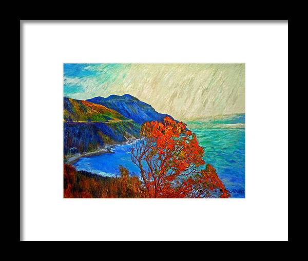 Seascape Framed Print featuring the painting Hout Bay by Michael Durst