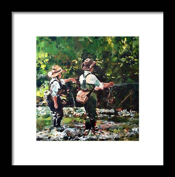 Fly Framed Print featuring the painting Howards Greek by Molly Wright