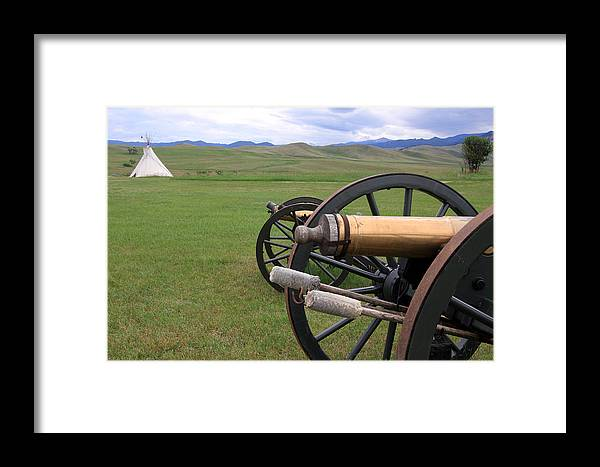 Howitzer Framed Print featuring the photograph Howitzers by Keith R Crowley