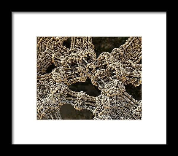 Fractal Framed Print featuring the photograph Hub by Kevin Trow