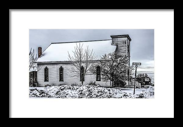 Hubbard Framed Print featuring the photograph Hubbard Street Church by Ray Congrove