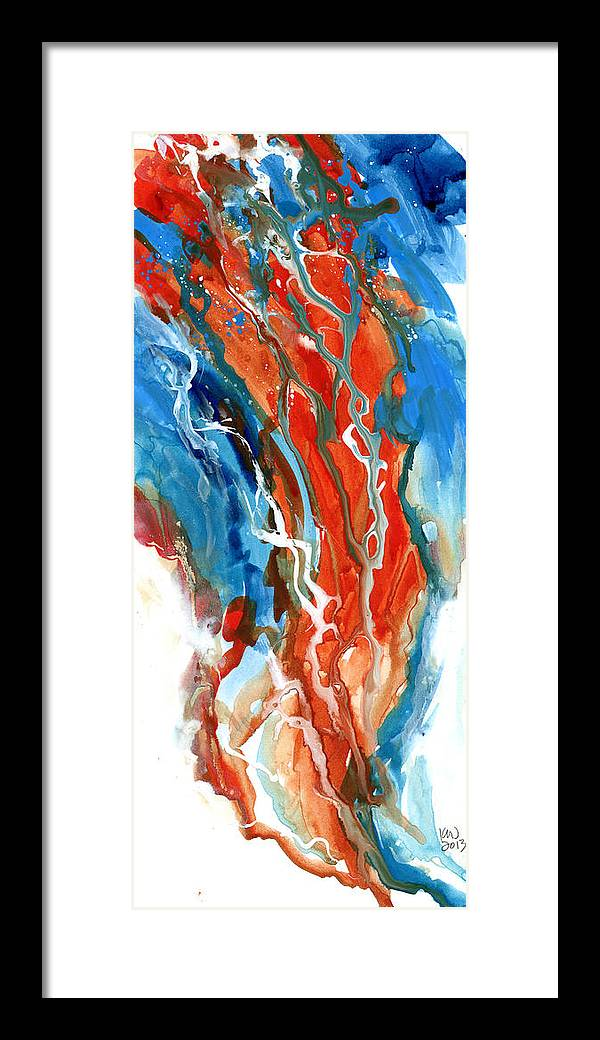 Abstract Framed Print featuring the painting Hue See Eye See by Ken Meyer jr