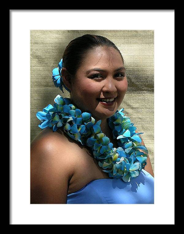 Hawaii Iphone Cases Framed Print featuring the photograph Hula Blue by James Temple