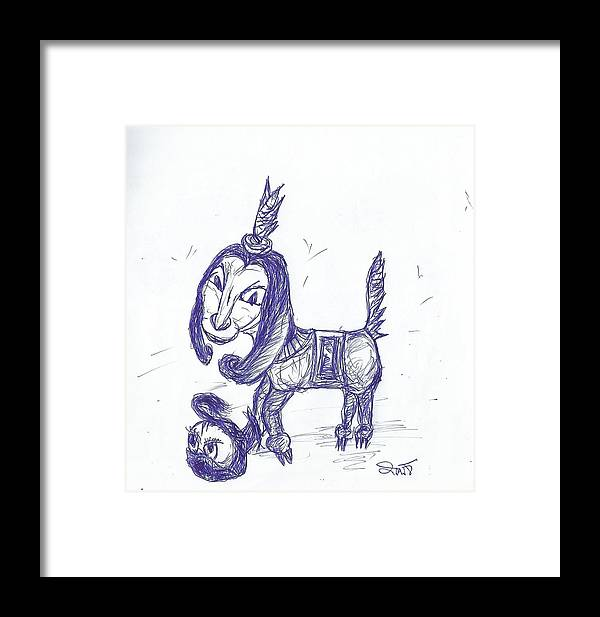 Human Emotion Framed Print featuring the drawing Human Emotion by Thitipong Sornjan
