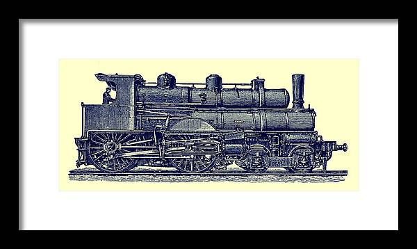 Train Framed Print featuring the photograph Locomotive by Phil Cardamone