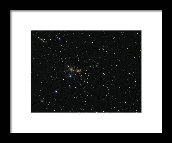 Horizontal Framed Print featuring the photograph Hundreds Of Galaxies In The Coma by Lorand Fenyes