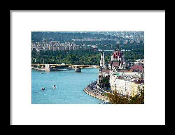 Arch Framed Print featuring the photograph Hungarian Parliament Building by Paul Biris