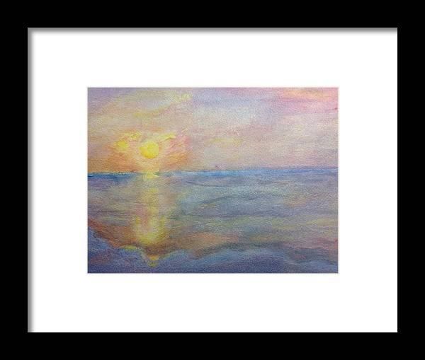 Hunting Island Framed Print featuring the painting Hunting Island by Stella Schaefer