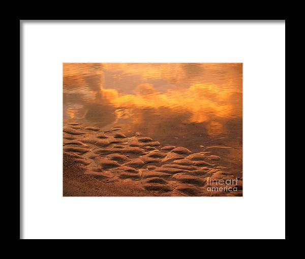 Sunrise Framed Print featuring the photograph Hunting Island Sunrise Reflections by Anna Lisa Yoder