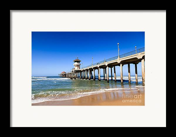 Huntington Beach Wall Decor : Huntington beach pier in southern california framed print