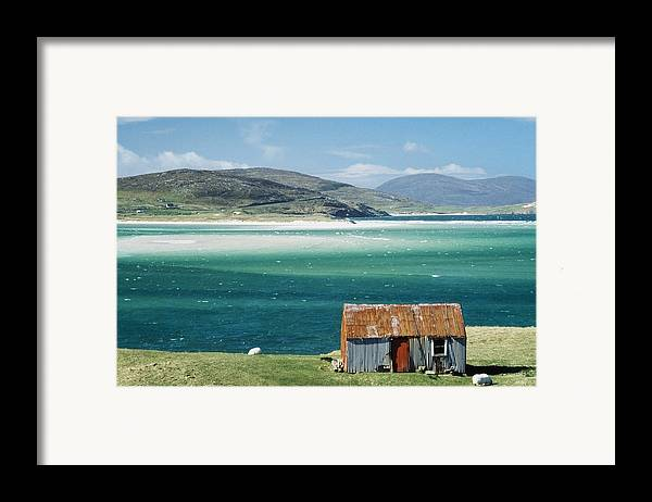 Photographic Framed Print featuring the photograph Hut On West Coast Of Isle by Rob Penn