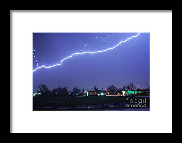 Lightning Framed Print featuring the photograph Hv10 by Tom Williams