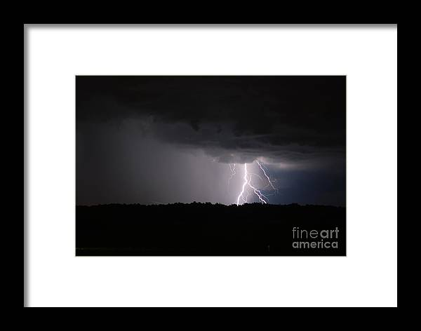 Lightning Framed Print featuring the photograph HV3 by Tom Williams