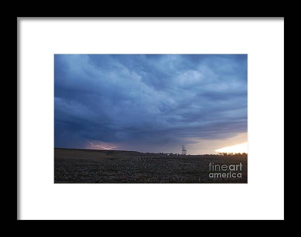 Lightning Framed Print featuring the photograph HV7 by Tom Williams