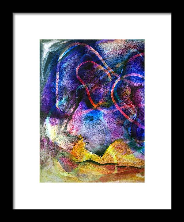Abstract Framed Print featuring the drawing Hybrid's Diving by Daniel Dinev