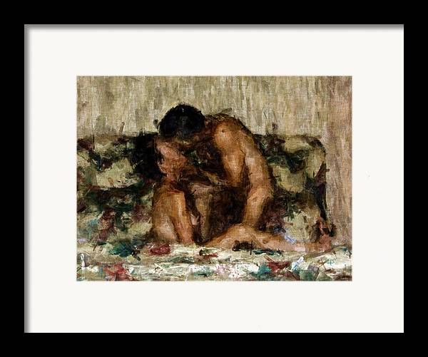 Nudes Framed Print featuring the photograph I Adore You by Kurt Van Wagner