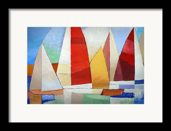 I Am Sailing Framed Print featuring the painting I Am Sailing by Lutz Baar