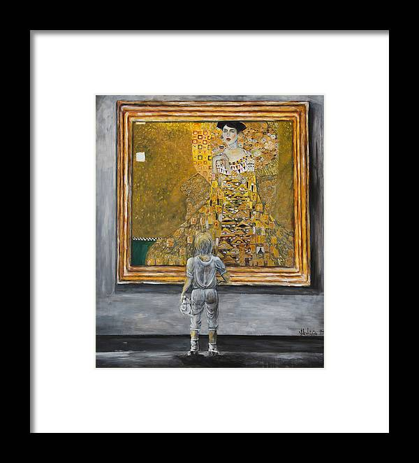 Painting Of Klimt Framed Print featuring the painting I Dream Of Klimt by Nik Helbig