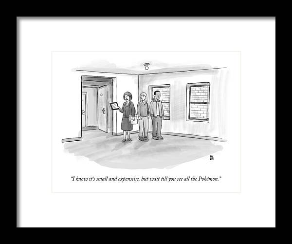 Pokemon Framed Print featuring the drawing I Know It's Small And Expensive by Paul Noth