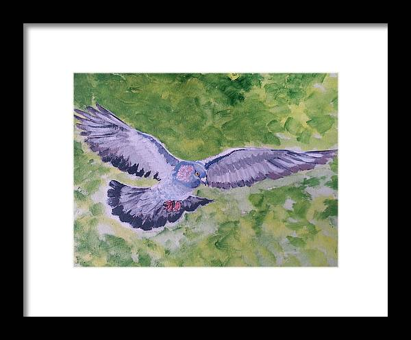 Dove Framed Print featuring the painting I Know Why A Caged Bird Sings by Vidya Vivek