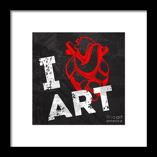 Love Framed Print featuring the digital art I Love Art by Pevuna