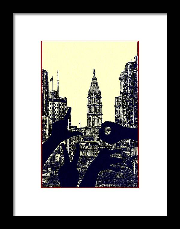 I Love Philly Framed Print featuring the photograph I Love Philly by Bill Cannon