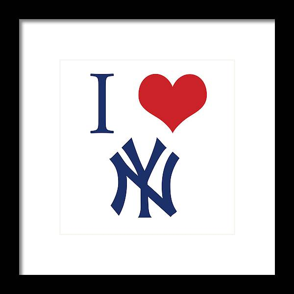 I Love Yankees Framed Print by Gina Dsgn