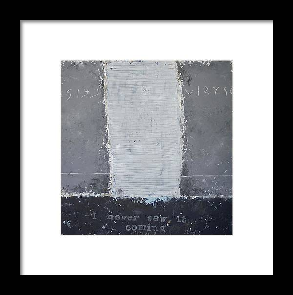 Painting Framed Print featuring the painting I Never Saw It Coming by Donna Mayo