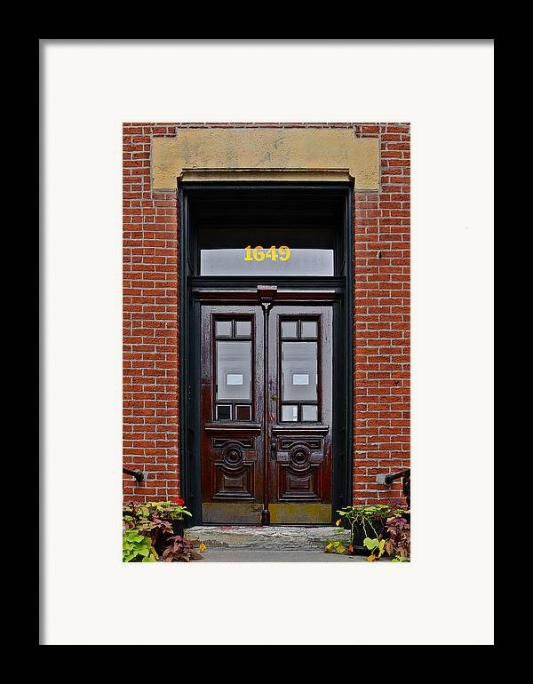 Chicago Framed Print featuring the photograph I See A Red Door by Christine Till