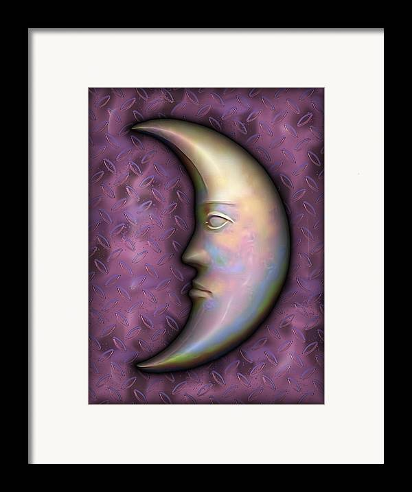 Moon Framed Print featuring the digital art I See The Moon 2 by Wendy J St Christopher