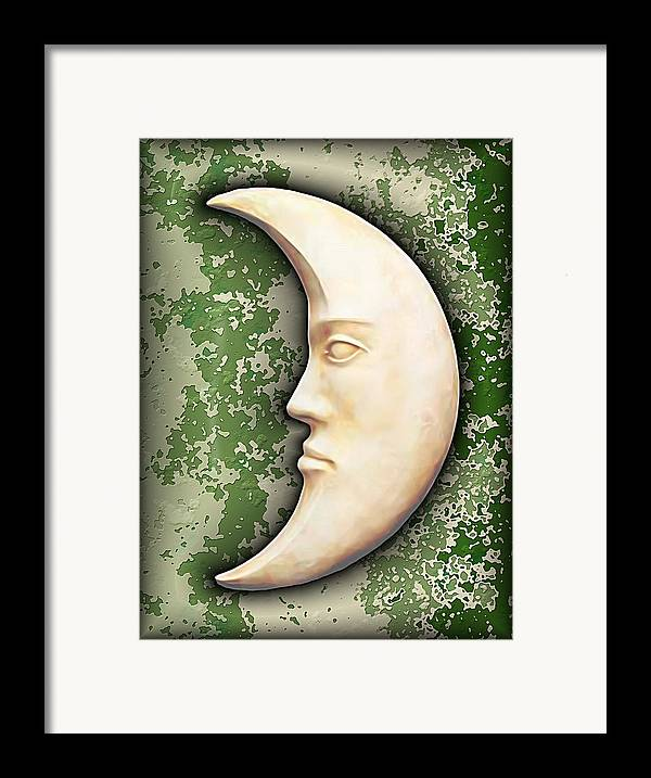 Moon Framed Print featuring the digital art I See The Moon 3 by Wendy J St Christopher
