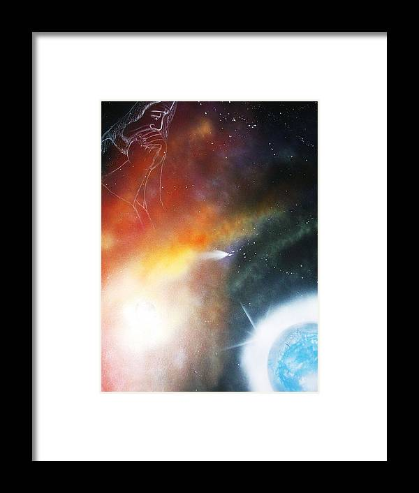 God Framed Print featuring the painting Iam Here by Roejae Baptiste