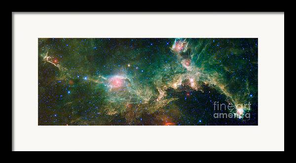 Science Framed Print featuring the photograph Ic 2177-seagull Nebula by Science Source