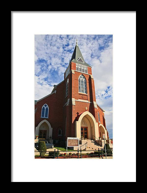 Massachusetts Framed Print featuring the photograph Ic Church by David DeCenzo